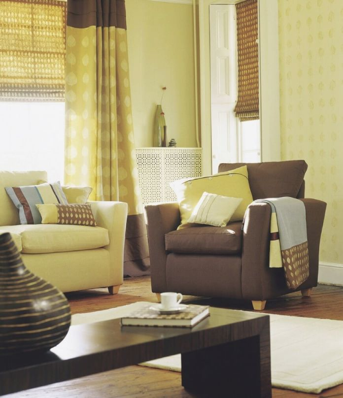 Curtains For Living Room With Brown Furniture At Modern in Curtains For Living Room With Brown Furniture