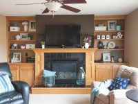 Decorating Shelves Around The Fireplace For Spring – Small with Unique Decorating Shelves In Living Room