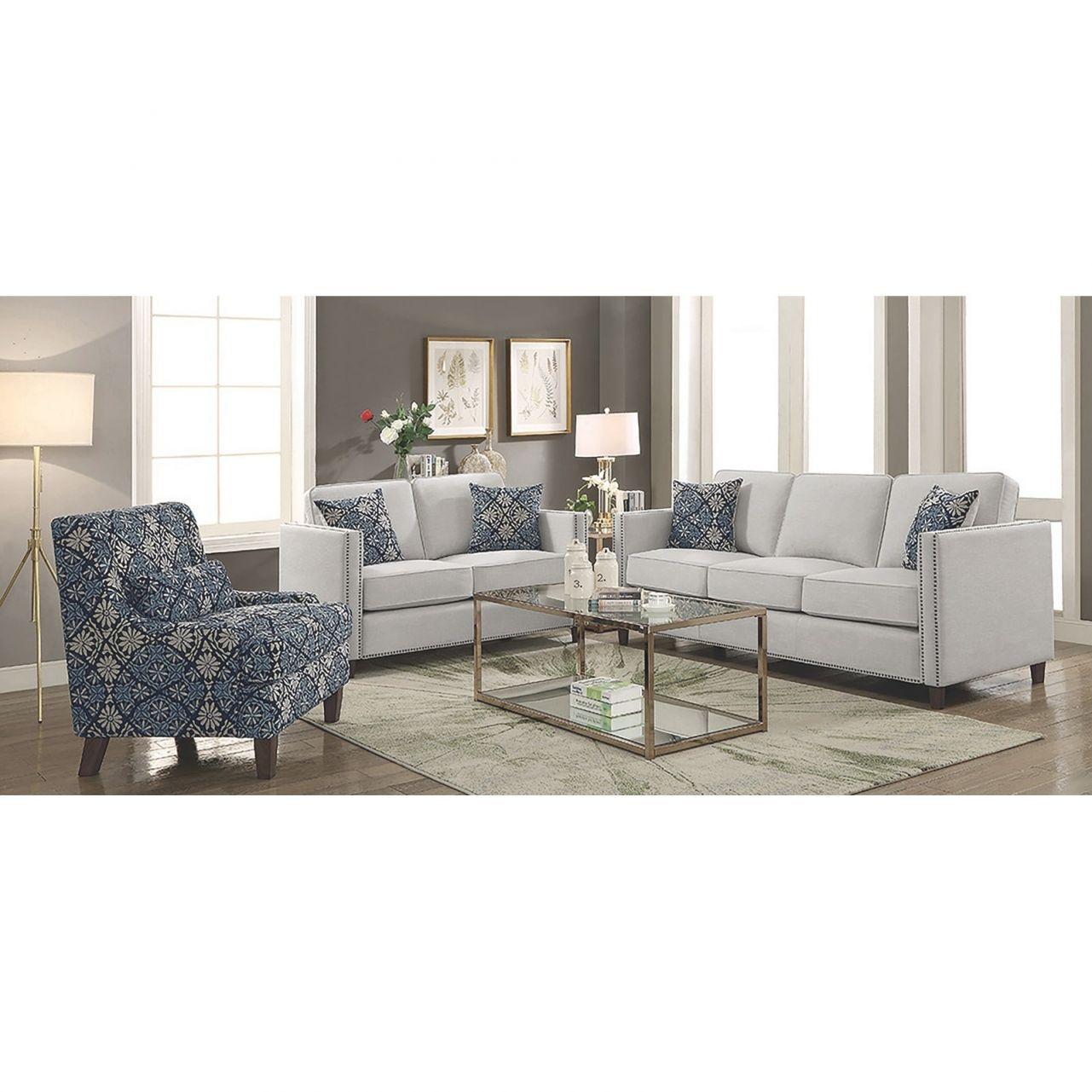 Denzel Transitional Beige 2-Piece Living Room Set with regard to Best of Transitional Living Room Furniture