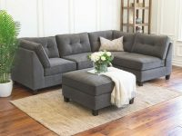 Details About Modular Sectional Sofa Set Dark Grey Couch Ottoman Living Room Furniture New regarding Modular Living Room Furniture
