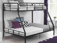 Details About Twin Over Full Metal Bunk Bed W/ Ladder Kids Bedroom Furniture Dorm Loft within Twin Bedroom Furniture Set