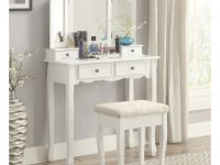 Details About Wooden Vanity Make Up Table Mirror Stool Set Makeup Bedroom Furniture White New with Bedroom Set With Vanity
