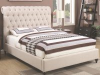 Devon Queen Upholstered Bed In Beige Fabriccoaster At Value City Furniture in Beautiful Queen Size Bedroom Furniture Sets