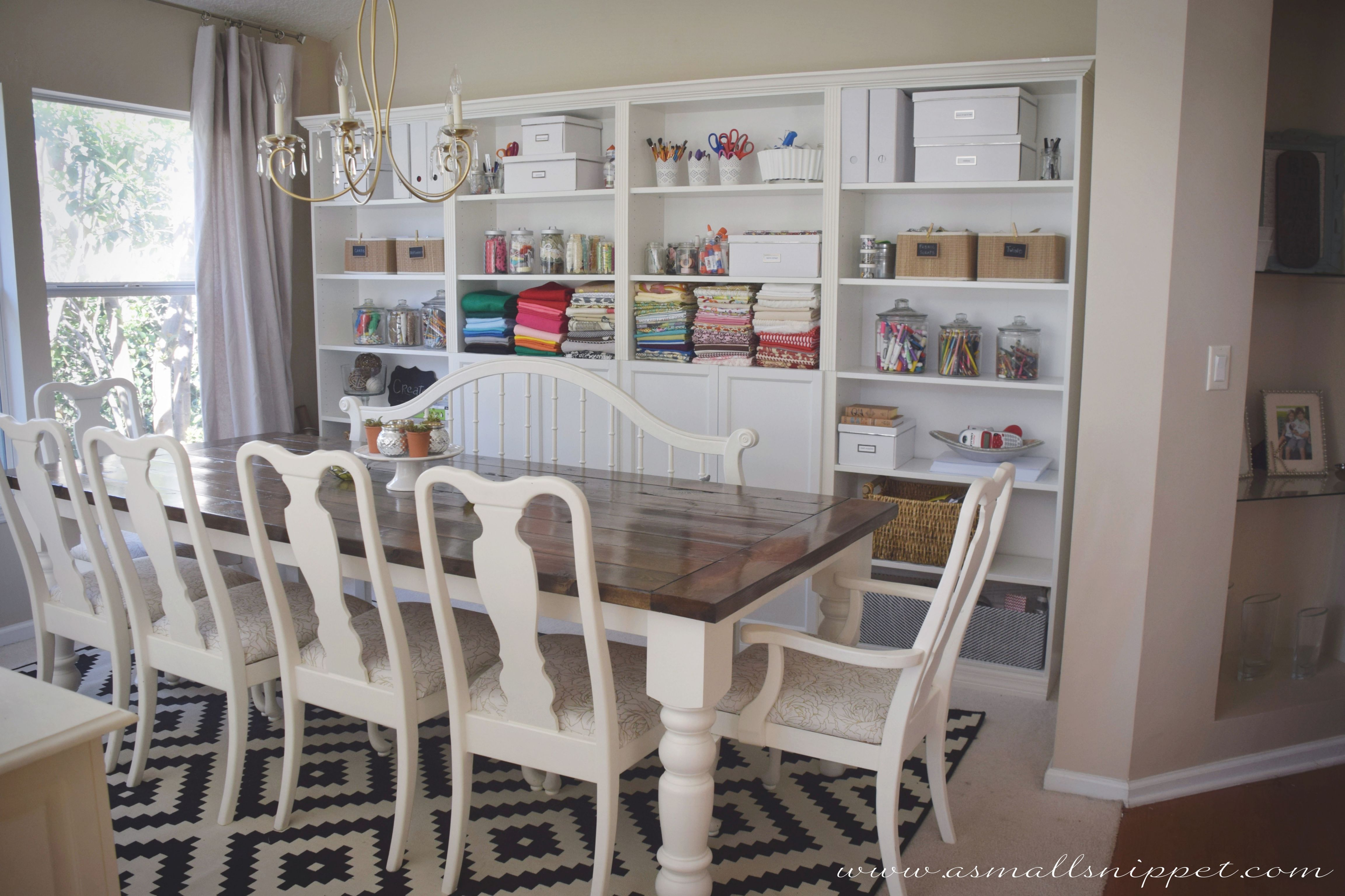Dining Room Makeover Featuring Ikea Faux Built Ins | A Small throughout Best of Ikea Wall Cabinets Living Room