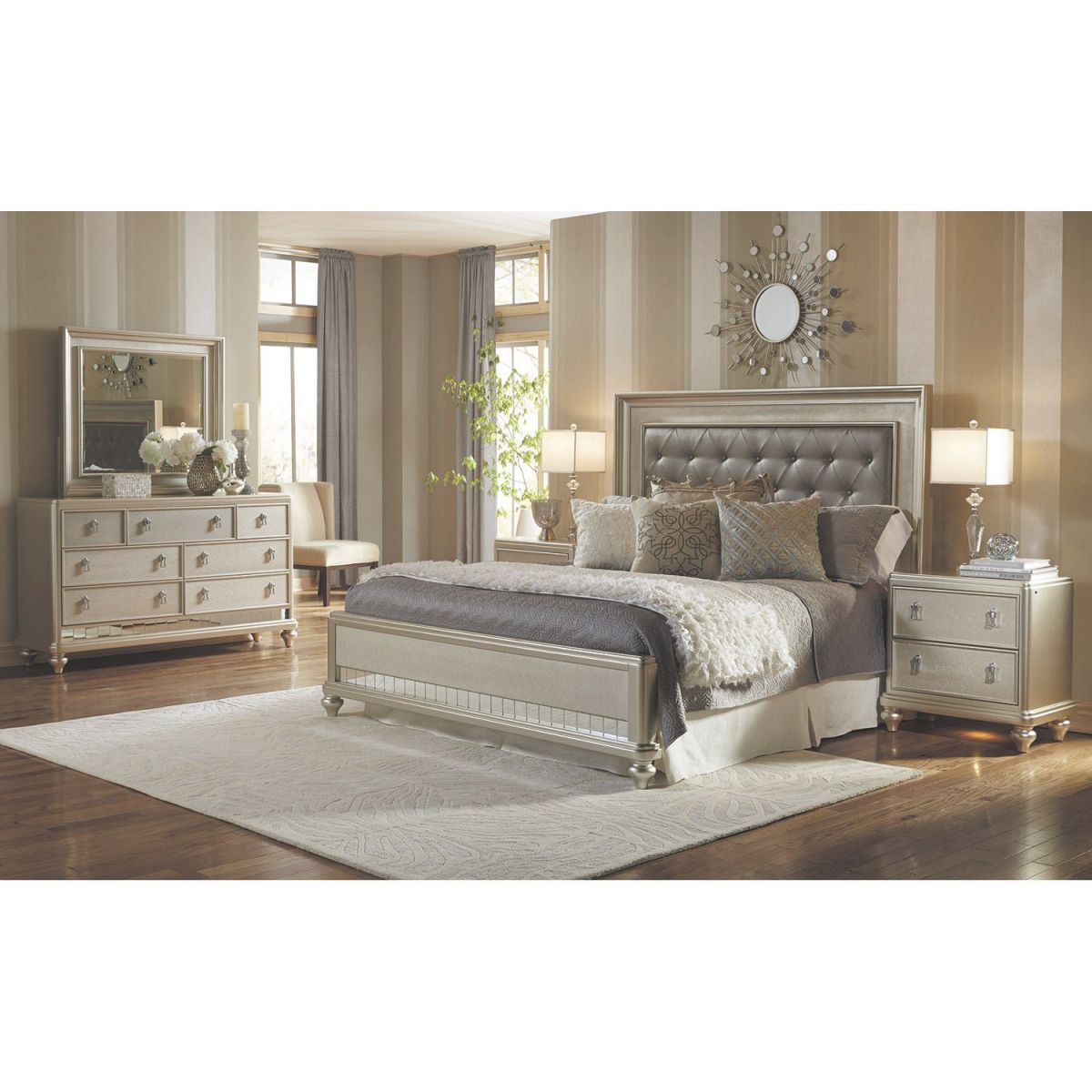 Diva 5 Piece Bedroom Set with regard to Bedroom Set Vanity