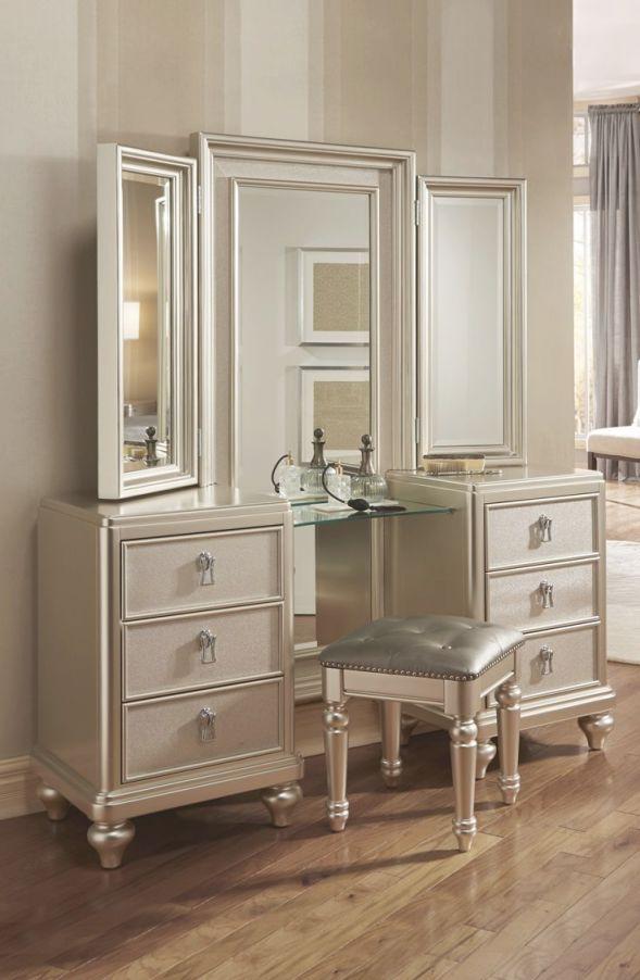 Diva Vanity Dresser & Stool | Decor | Dresser With Mirror intended for Fresh Bedroom Set With Vanity