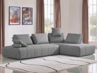 Divani Casa Edgar Modern Grey Fabric Modular Sectional Sofa regarding Modular Living Room Furniture