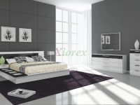 Draco Black And White Contemporary Bedroom Furniture Sets regarding White Bedroom Furniture Set