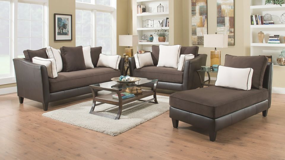 Drake Living Room – Sofa & Loveseat (Drake2Pclr) with regard to Elegant Living Room Furnitures