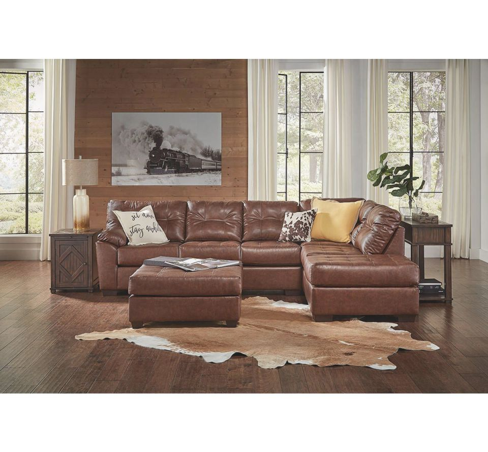 Draper Brown 2 Piece Sectional within Elegant 2 Piece Sectional With Chaise