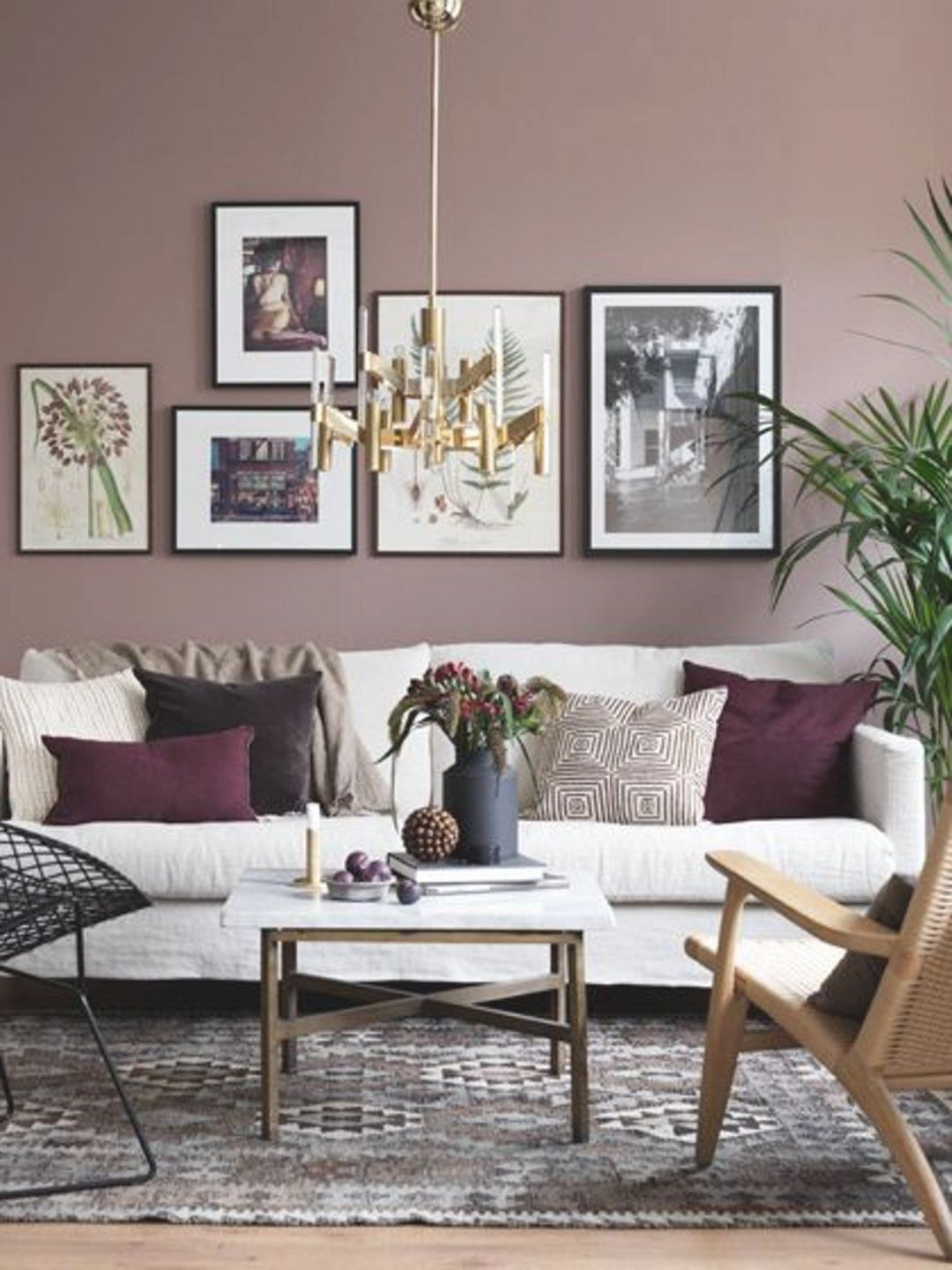 Dusty Pink Living Room Design Ideas Paint Pertaining To Luxury Burgundy And Grey Awesome Decors