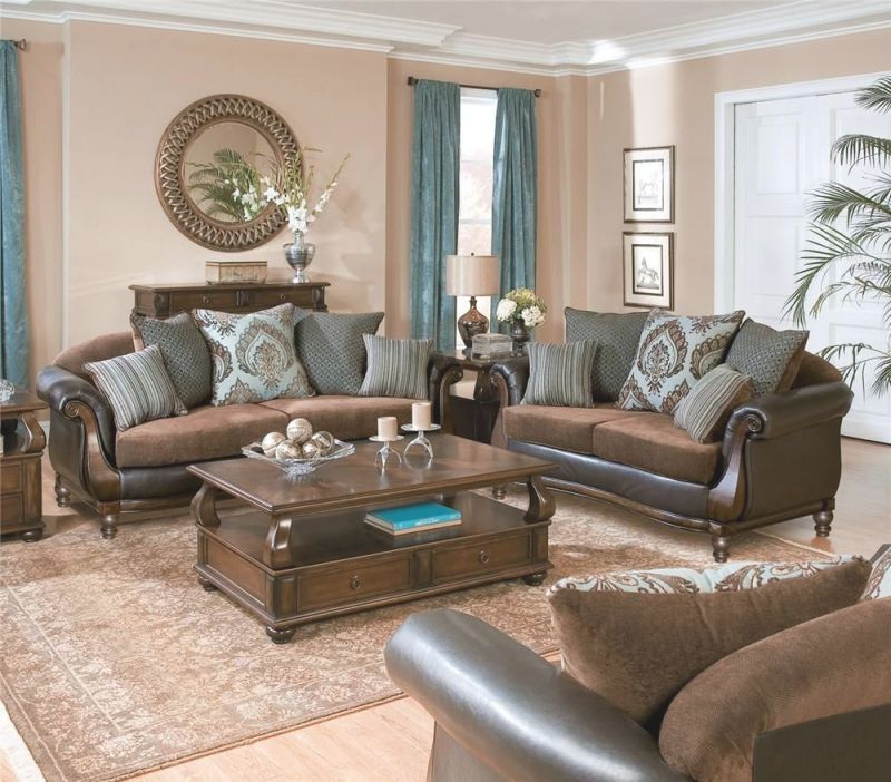 Elegant Blue Sofas:delightful Cool Coffee Table Also Blue throughout Curtains For Living Room With Brown Furniture