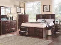Elegant Innovative Bedroom Furniture Storage Drawers Fb Eastern King Size Bed Dresser Mirror Nightstand 4Pc Set Espresso Concave Hb for Elegant Bedroom Furniture Set