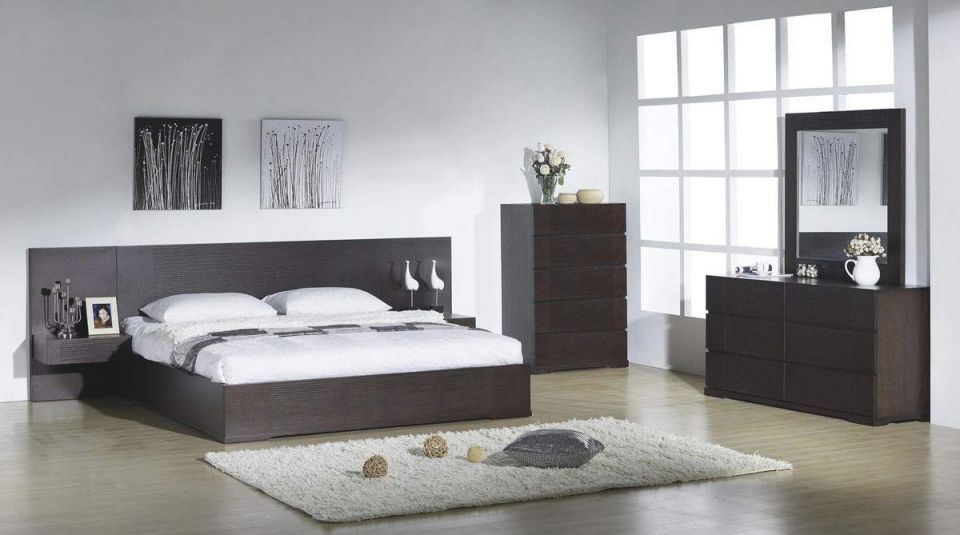 Elegant Quality Modern Bedroom Sets With Extra Long Headboard regarding Contemporary Bedroom Furniture Sets