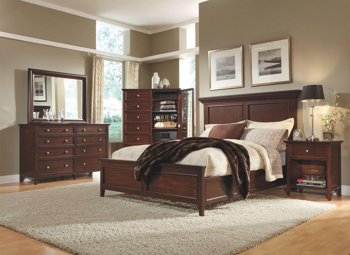 Ellsworth 4-Piece Queen Bedroom Set – Cherry throughout Elegant Levin Furniture Bedroom Sets