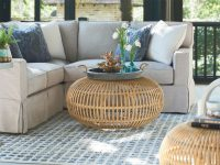Escape-Coastal Living Home Collection Rattan Scatter Table in Rattan Living Room Furniture