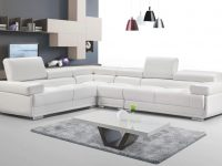 Esf 2119 Modular Sectional Sofa In White Leather pertaining to Luxury Modular Living Room Furniture