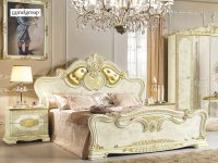 Esf Leonardo Luxury Gold Ivory Queen Bedroom Set 5 Classic regarding Fresh Gold Bedroom Furniture Sets