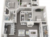 Estates At New Albany | New Albany Apartments In Ohio with Three Bedroom Apartment