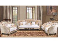 European Furniture Valentina 3Pc Livingroom Set In Dark Champagne – Antique White And Antique Dark Copper intended for Luxury White Living Room Furniture Sets