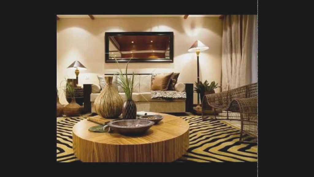 Fancy Contemporary Apartment With African Decorations That with regard to Best of African Decor Living Room