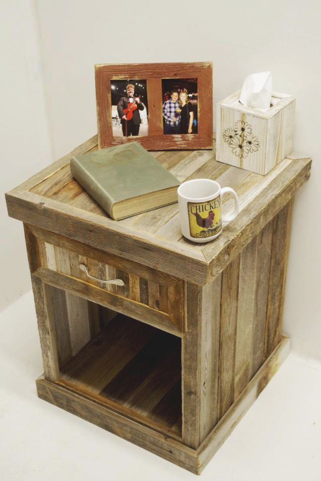 Farmhouse Style Barnwood Night Stand, Rustic Bedroom Furniture Sets, Night Tables With Drawers, Cool Unique Solid Wood Western Nightstands. inside Rustic Bedroom Furniture Sets
