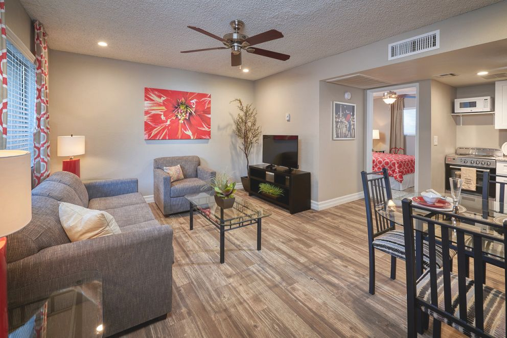 Fiesta Village Quality Furnished Apartments with One Bedroom Furnished Apartment