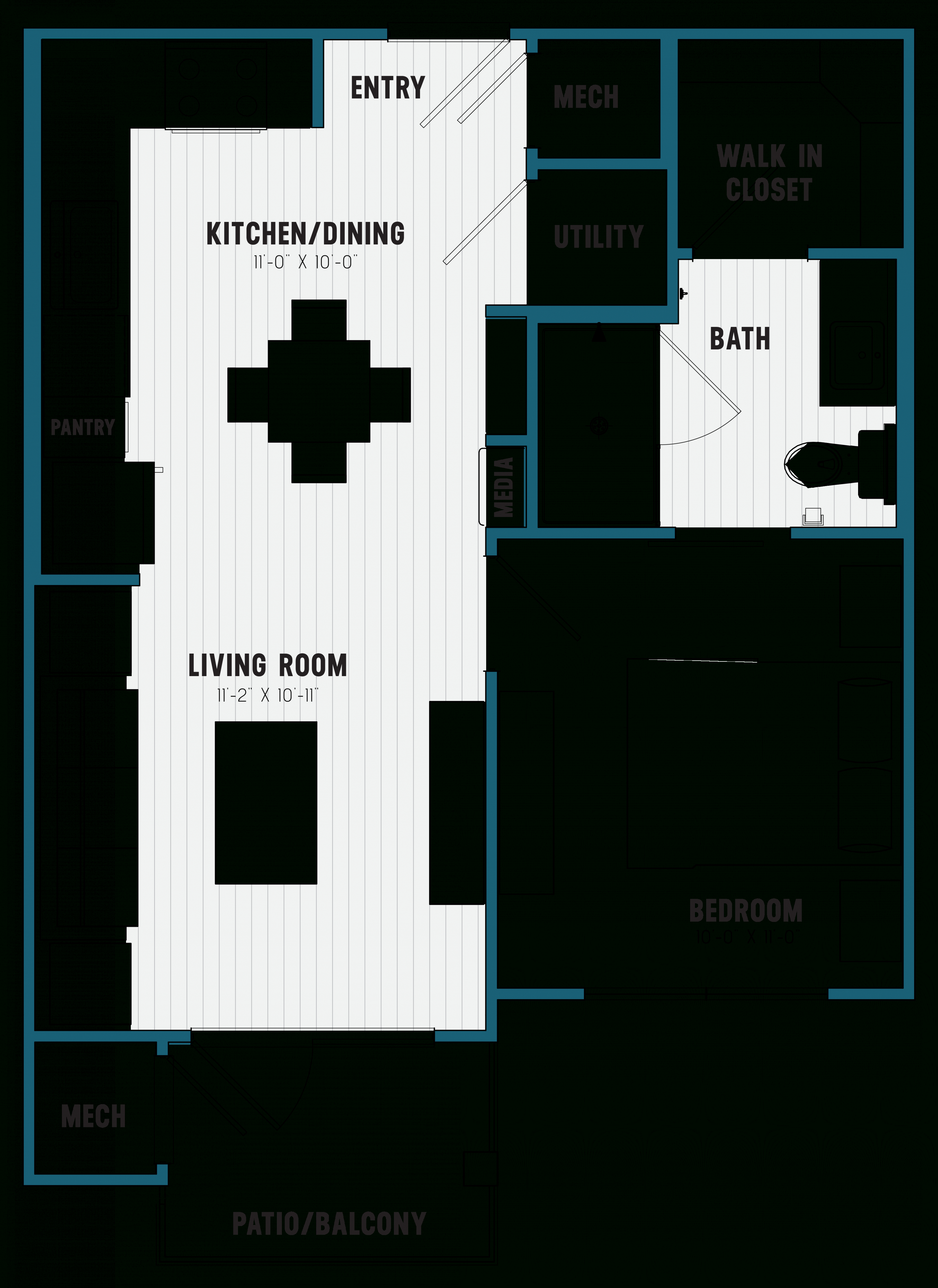 Floorplans | Brookland, West Columbia, Sc in One Bedroom Apartment Floor Plans