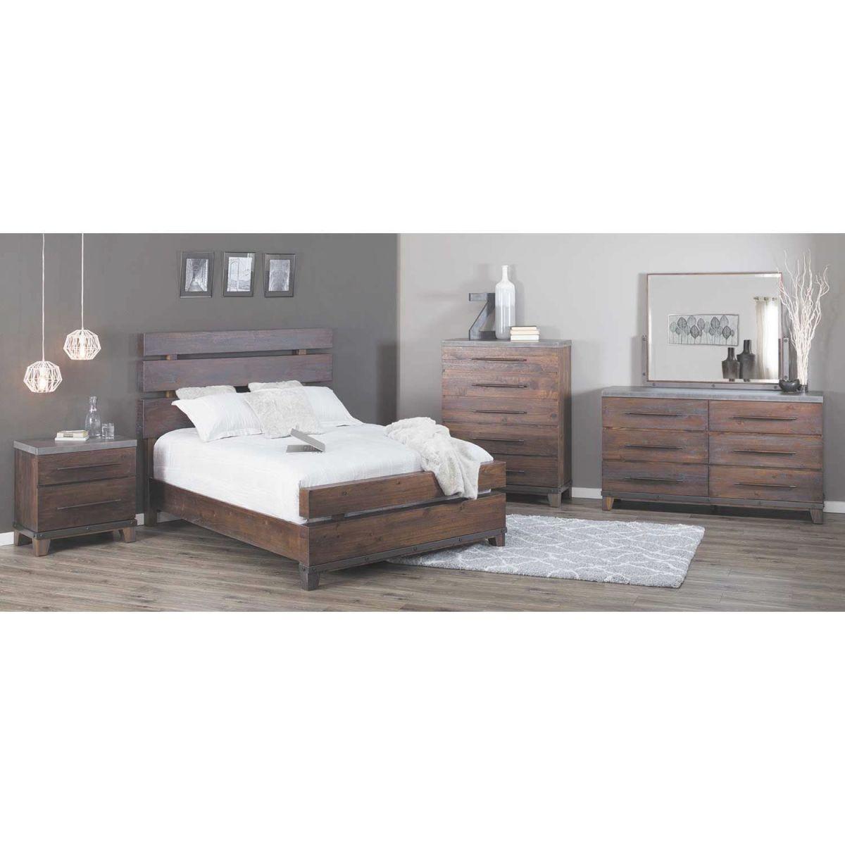 Forge 5 Piece Bedroom Set throughout Unique Rustic Bedroom Furniture Sets