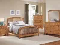 Forsyth Arched Bedroom Set (Medium Oak) inside Oak Bedroom Furniture Sets