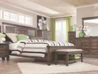 Franco Oak 4-Piece Cal King Bedroom Set intended for Luxury Oak Bedroom Furniture Sets