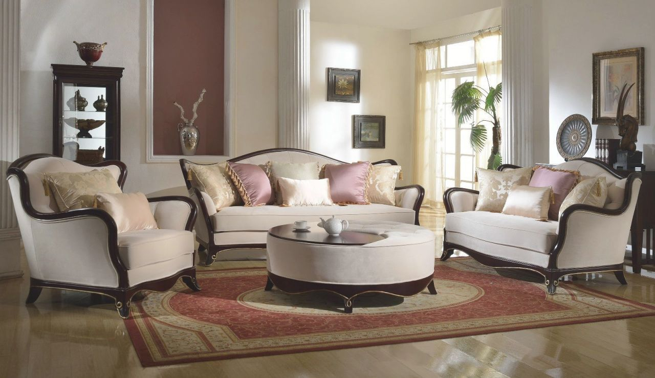 French Provincial Formal Living Room Furniture Set Sofa in French Provincial Living Room Furniture