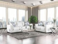 Furniture Of America Ilse Living Room Set In Off White throughout Luxury White Living Room Furniture Sets