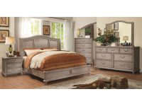 Furniture Of America Minka Farmhouse Rustic Grey 4-Piece Bedroom Setfoa regarding Unique Rustic Bedroom Furniture Sets