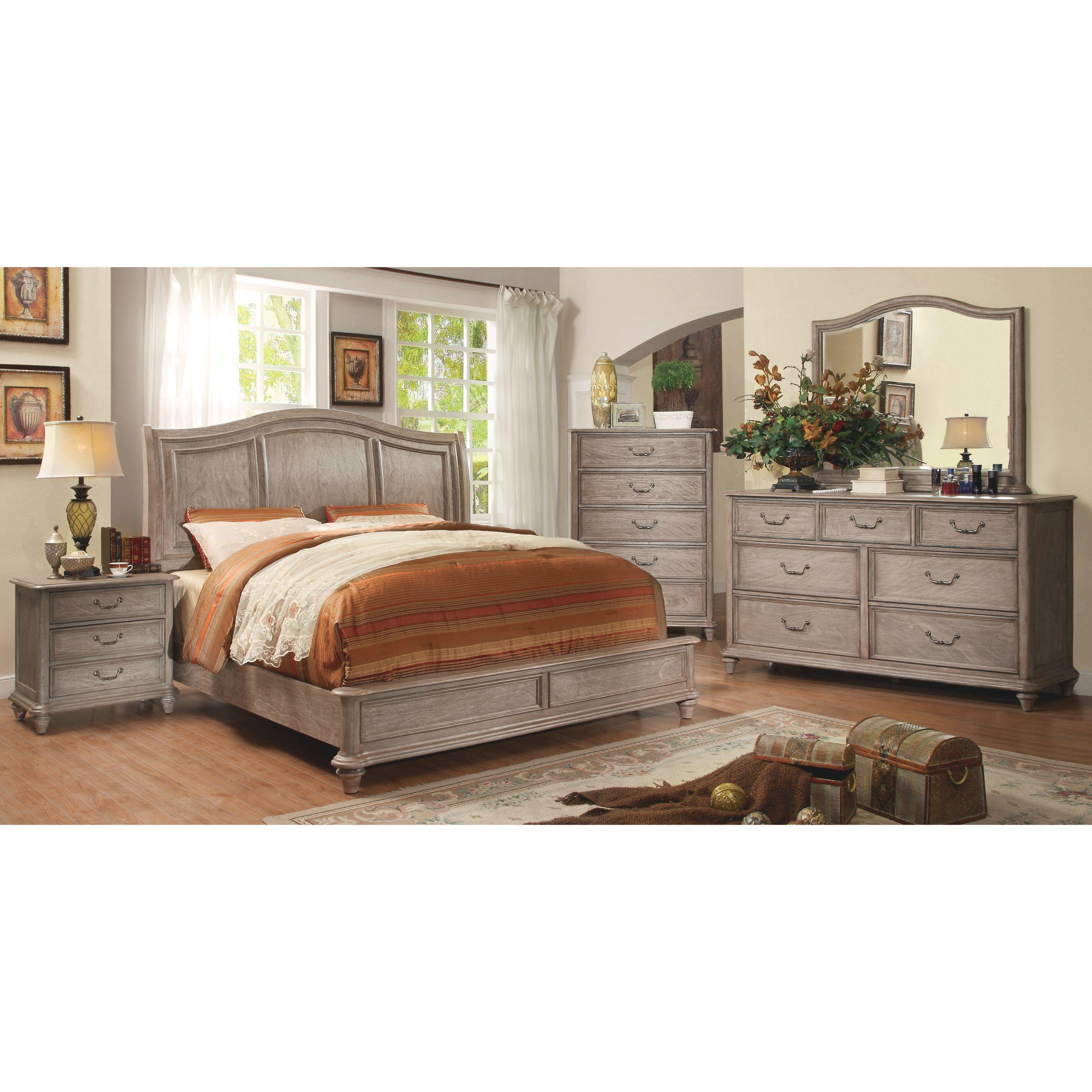 Furniture Of America Minka Farmhouse Rustic Grey 4-Piece ...