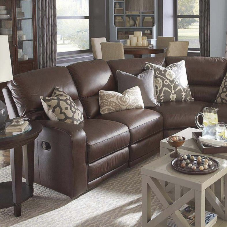 Furniture, Wonderful Classic Style Dark Brown Leather Living with regard to Best of Living Rooms With Leather Furniture Decorating Ideas