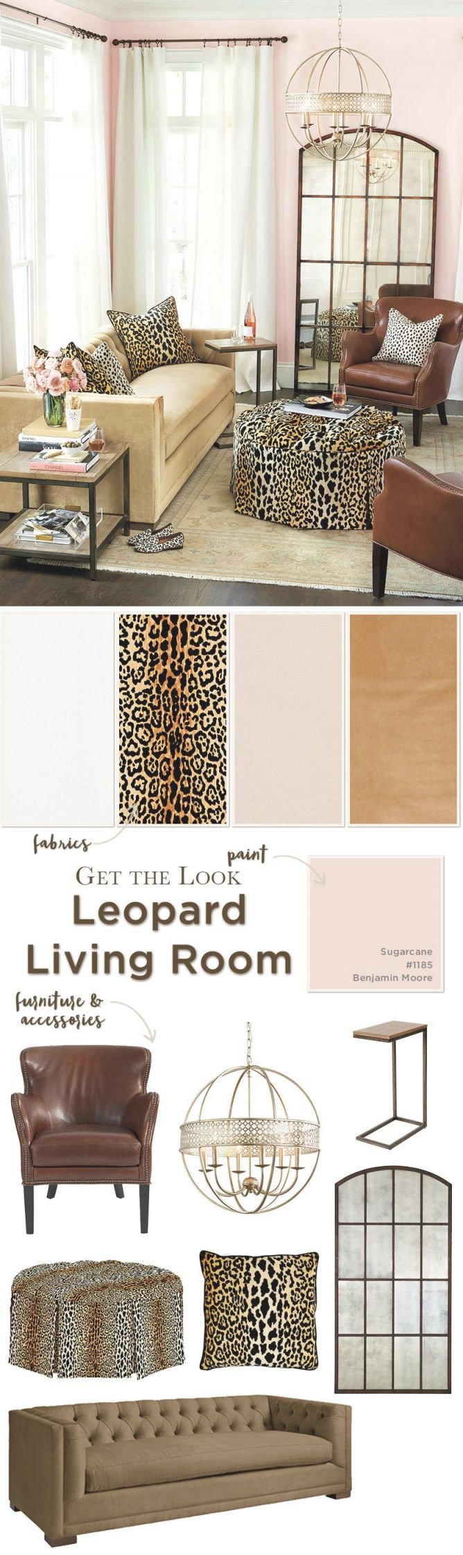 Get The Look: Leopard Living Room | Living Room Ideas for Unique Animal Print Living Room Decor