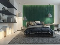 green-white-and-grey-bedroom-decor