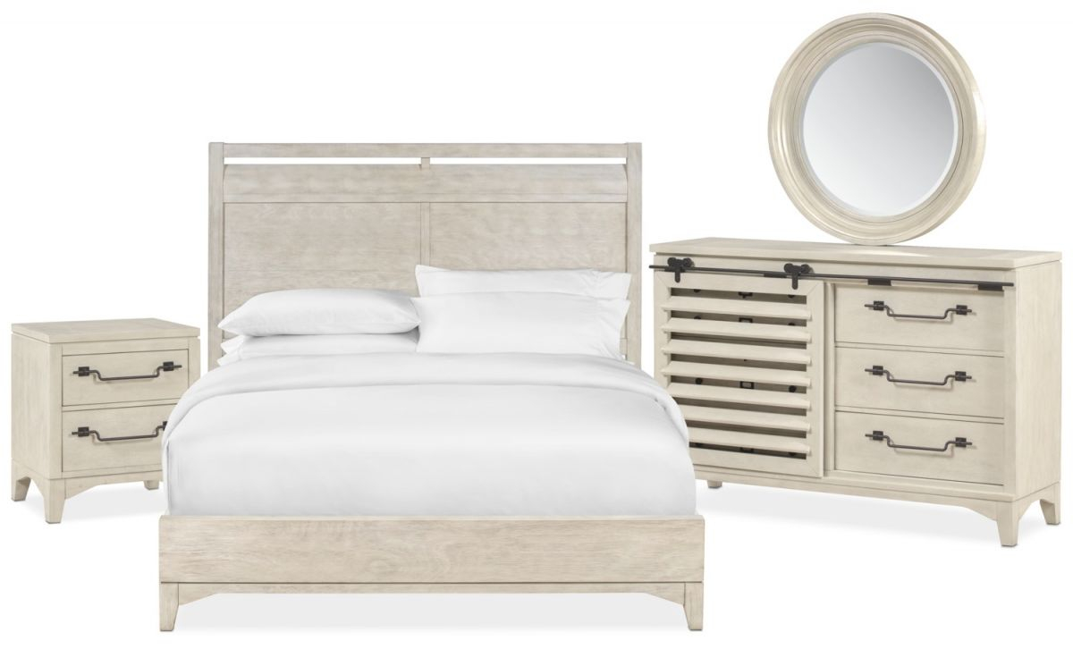 Gristmill 6-Piece Bedroom Set With Nightstand, Dresser And Mirror with regard to Lovely Coastal Bedroom Furniture Sets