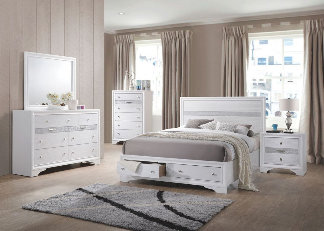 Gymax Modern Bedroom 5 Piece Furniture Set Bed Dresser Mirror Chest Night Stands pertaining to Modern Bedroom Furniture Sets