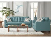 Haley Teal Sofa & Loveseat for Teal Living Room Furniture