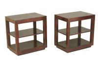 Hamden Contemporary Mango Wood 3 Tier Open Sided End Tables Set Of 2 within Luxury 3 Piece Coffee Table Set