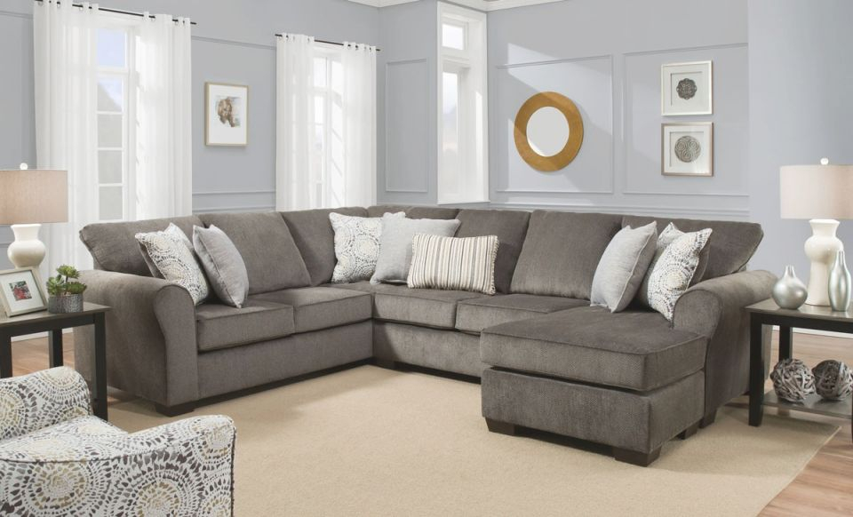 Harlow Ash 2-Piece Sectional Sofa with regard to 2 Piece Sectional With Chaise