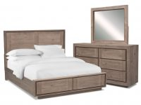Henry 5-Piece Storage Bedroom Set With Dresser And Mirror in Rustic Bedroom Furniture Sets