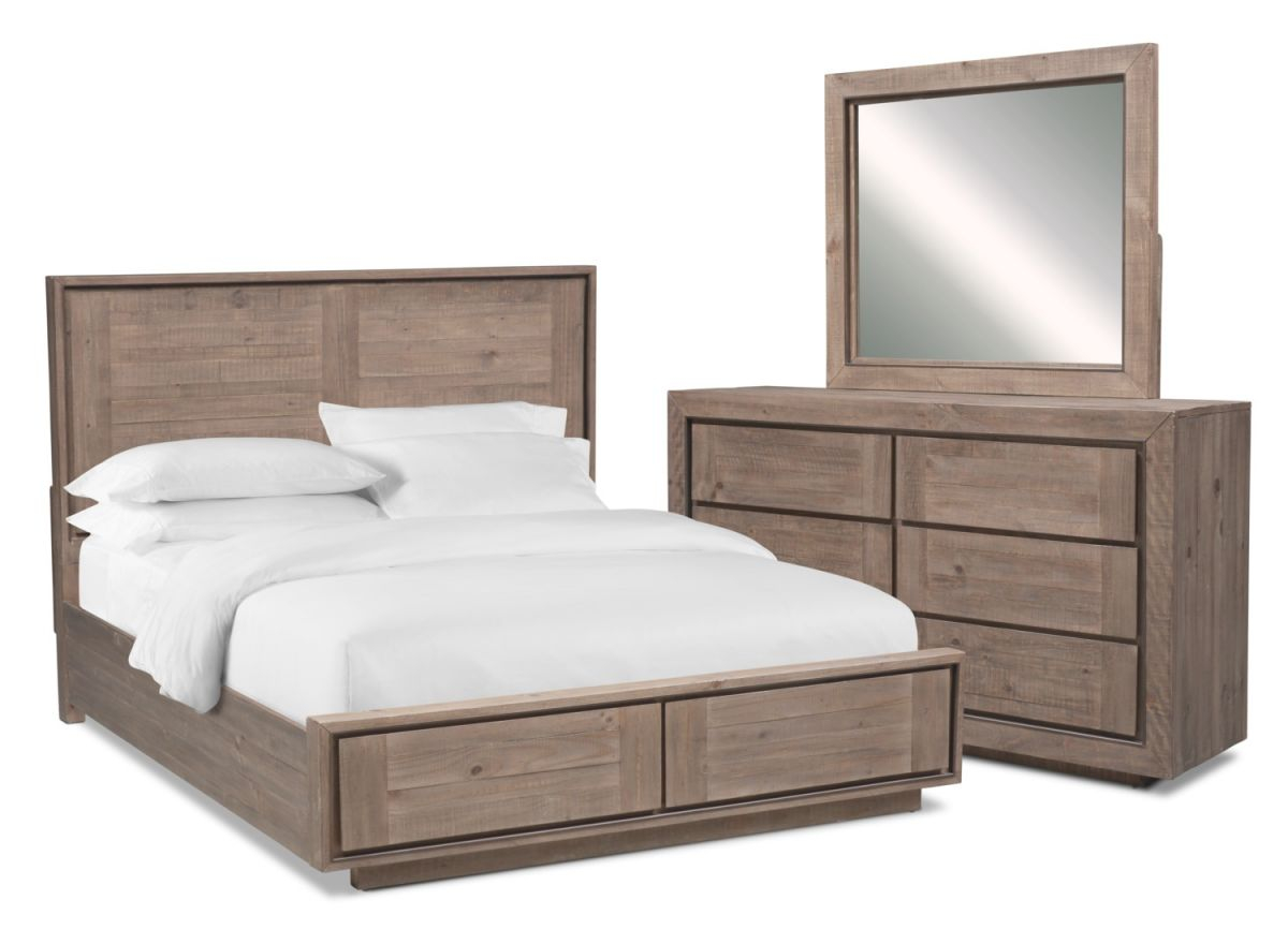 Henry 5-Piece Storage Bedroom Set With Dresser And Mirror inside Value City Furniture Bedroom Set