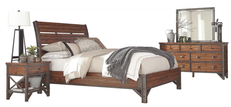 Holverson 4-Piece King Bedroom Set in Bedroom Sets King