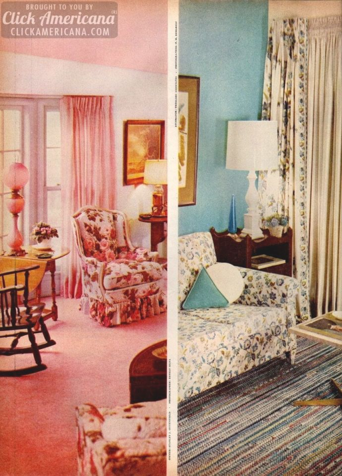 Home Decor 1950s Style Be Generous With Color Click With New 1950s Living Room Decor Awesome Decors