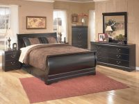 Huey Vineyard 4-Piece Sleigh Bedroom Set In Black pertaining to Cheap Queen Bedroom Furniture Sets