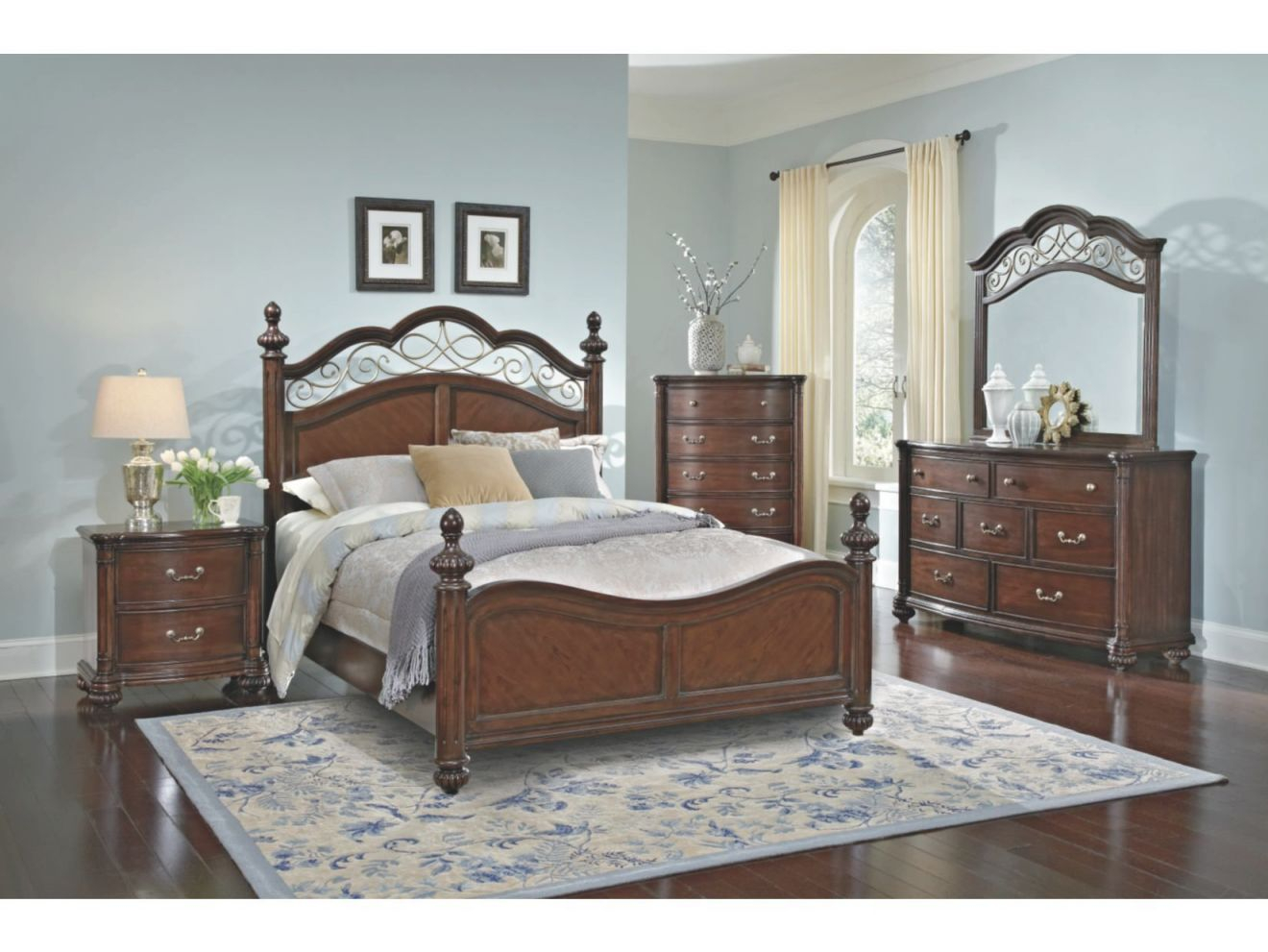 If The Bedroom Set Was My Style: Derbyshire Cherry Set for Value City Furniture Bedroom Set