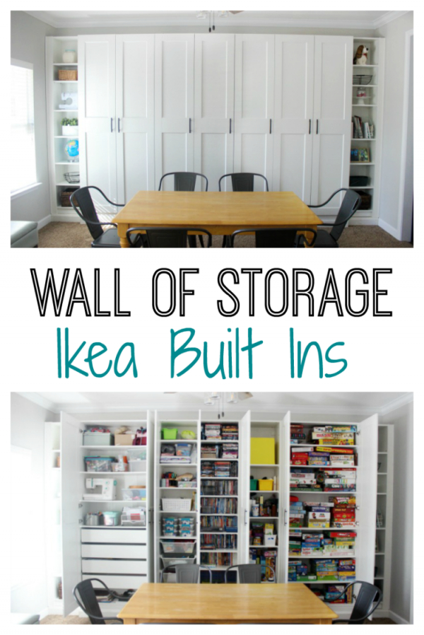 Ikea Built-Ins For Storage: Create A Wall Of Built-Ins To throughout Ikea Wall Cabinets Living Room